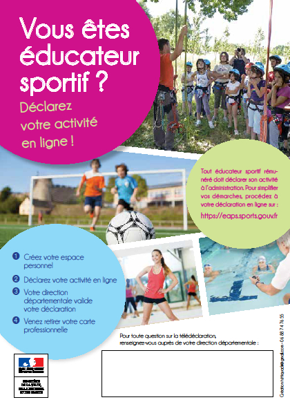 Declaration Deducateur Sportif Carte Professionnelle Sport